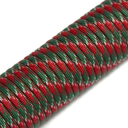 "Паракорд 550,  красный+зеленый ""Red+green"" (4 мм), 30 метров"