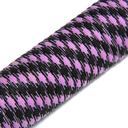 """Паракорд 550,  розовый+черный """"Pink+black"""" (4 мм), 30 метров"""