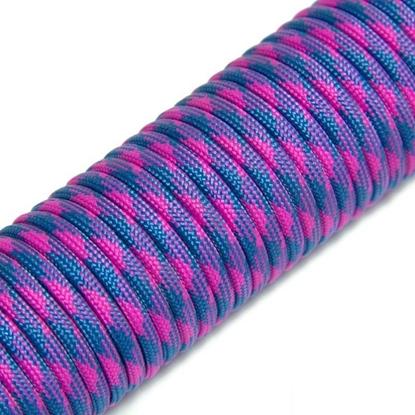 """Паракорд 550, ярко розовый+синий """"Bright pink+blue"""" (4 мм), 30 метров"""