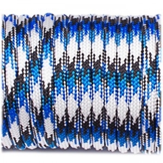 "Паракорд 550,  сине-белый камуфляж ""White blue camo"" (4 мм), 30 метров"
