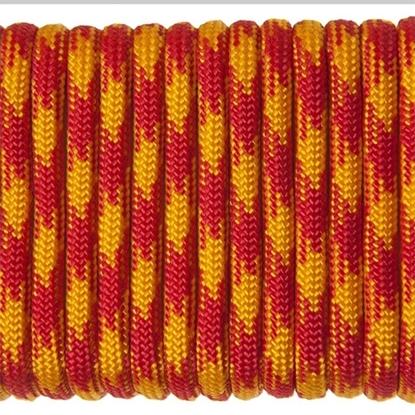 "Паракорд 550, желто-красный камуфляж ""Yellow red camo"" (4 мм), 30 метров"