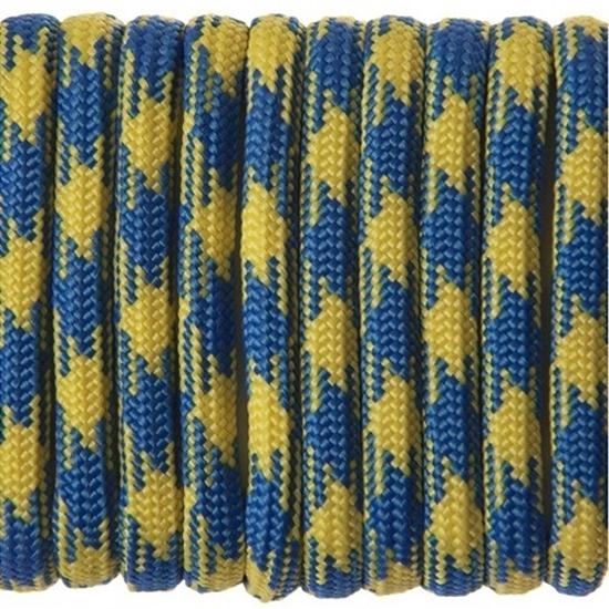 """Паракорд 550, желто-синий камуфляж """"Blue yellow camo"""" (4 мм), 30 метров"""