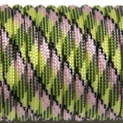 "Паракорд 550, зеленый+розовый""Green+pink"" (4 мм), 30 метров"