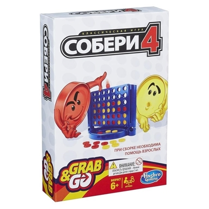 Настольная игра Собери 4,  дорожная.