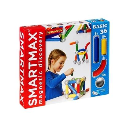 Магнитный конструктор SmartMax/ Bondibon Основной (Basic) набор 36 дет.
