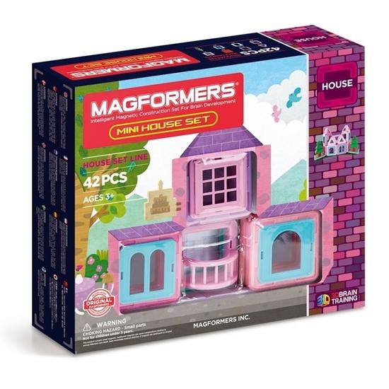 Магнитный конструктор Magformers Mini House Set 42P