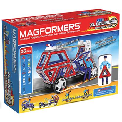 Магнитный конструктор Magformers XL Cruisers  Служба Спасения (33 дет)