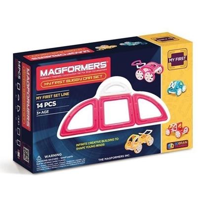 Магнитный конструктор Magformers My First Buggy Car Set - Pink (14 дет)