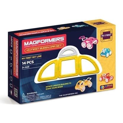 Магнитный конструктор Magformers My First Buggy Car Set - Yellow (14 дет)