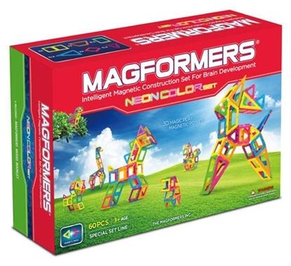 Магнитный конструктор Magformers Neon color set (60 дет)