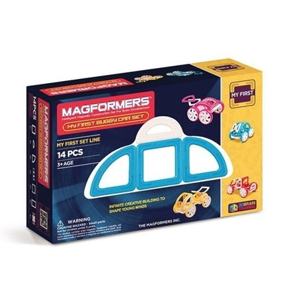 Магнитный конструктор Magformers My First Buggy Car Set - Blue (14 дет)
