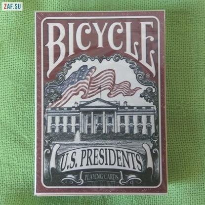 Карты Bicycle, президенты США (красный цвет), Collectable Playing Cards