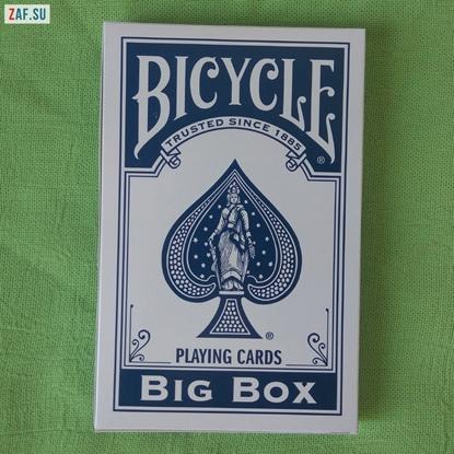 Большая колода карт Bicycle Big Deck (синяя)