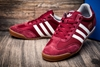 Мужские кроссовки Adidas DRAGON, бордовый/белый