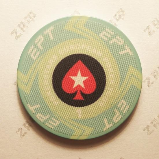 Керамические фишки EPT (PokerStars European Poker Tour), номинал 1