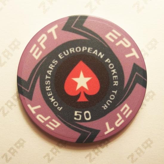 Керамические фишки EPT (PokerStars European Poker Tour), номинал 50