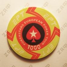 Керамические фишки EPT (PokerStars European Poker Tour), номинал 1000