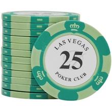 Фишки для покера Las Vegas, 14 г, номинал 25