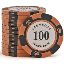 Фишки для покера Las Vegas, 14 г, номинал 100