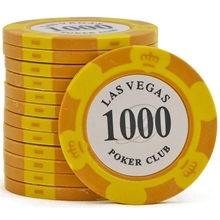 Фишки для покера Las Vegas, 14 г, номинал 1000