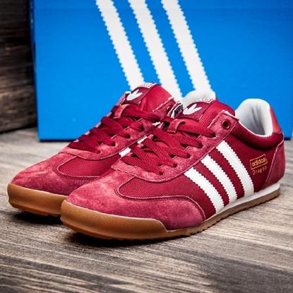 Изображение Мужские кроссовки Adidas DRAGON, бордовый/белый