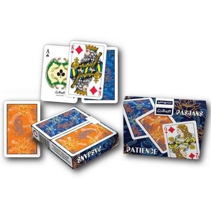 Изображение Игральные карты 2 в 1 — Пасьянс — Золотая рыбка (55 карт)