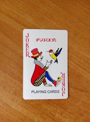 Picture of Карты игральные Three Bee Poker, атласные, красная/синяя рабашка