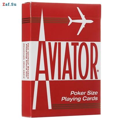Picture of Игральные карты Aviator, покерный размер, стандартный индекс (красные)