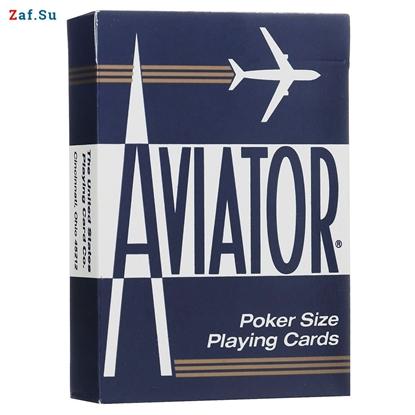 Picture of Игральные карты Aviator, покерный размер, стандартный индекс (синие)