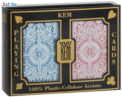 Picture of Игральные карты KEM Arrow Narrow (крупный индекс), 100% пластик