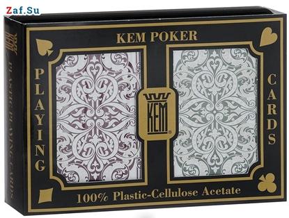 Picture of Игральные карты KEM Jacquard Wide (крупный индекс), 100% пластик