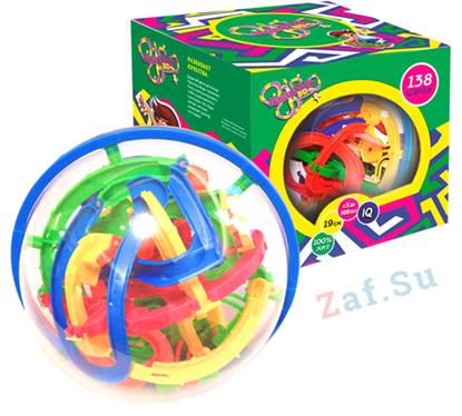 Изображение 3D шар головоломка Лабиринто 138 шагов