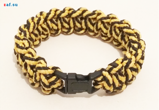Изображение Браслет выживания Кобра, на фастексе, жёлто-чёрный