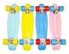 Изображение Скейт Cruiser Board, OPTIMA ABEC 7, розовый с голубыми колесами