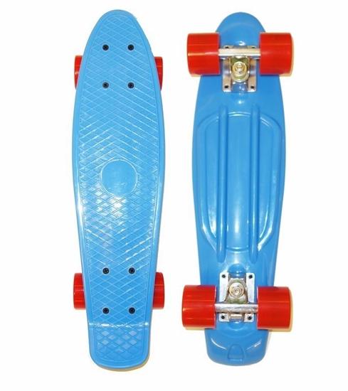 Изображение Скейт Cruiser Board, OPTIMA ABEC 7, синий с красными колесами