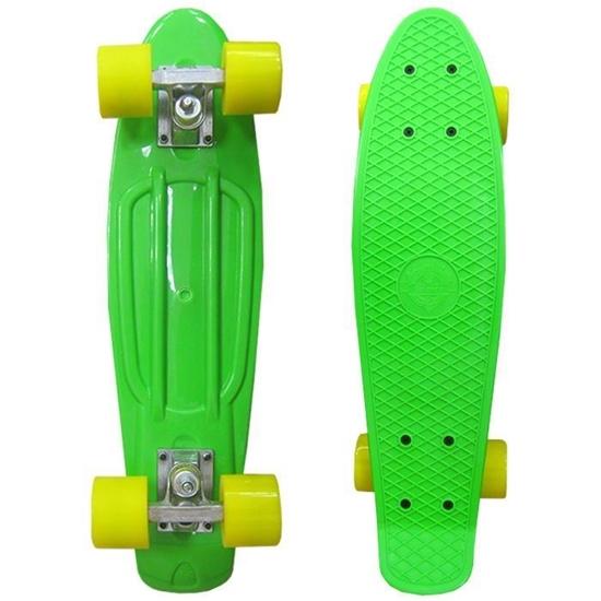 Изображение Скейт Cruiser Board, PRO ABEC 9, зеленый с желтыми колесами