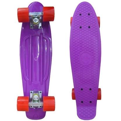 Picture of Скейт Cruiser Board, PRO ABEC 9, фиолетовый с красными колесами