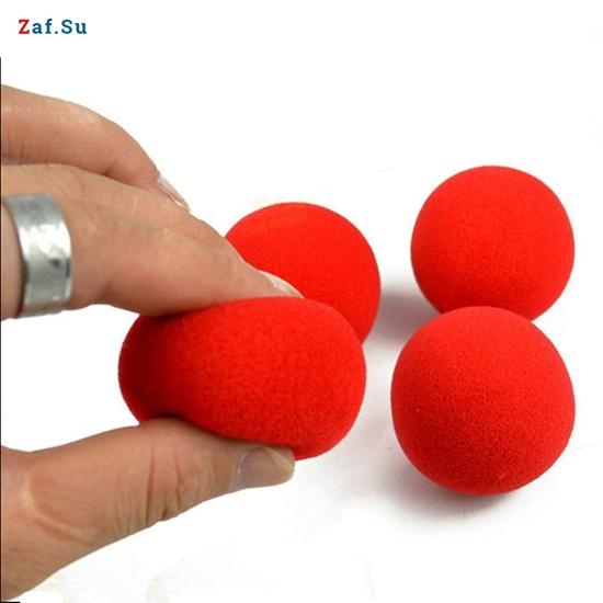 Изображение Поролоновые шарики, 4,5 см, красные
