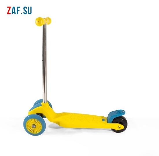 Изображение Самокат детский трехколесный (жёлто-голубой) до 50 кг