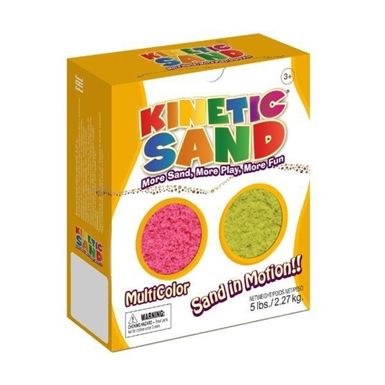 Изображение Kinetic Sand (2,27 кг), набор из двух цветов: розовый, желтый