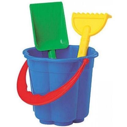 Picture of Игровой набор для песка (Ведерко, лопатка, грабельки)