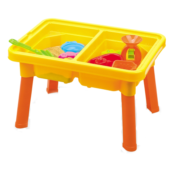 Изображение Стол для игр с песком и водой Hualian Toys «Водяные приключения» (в комплекте набор для песка из 12 предметов, 58*41*H37)