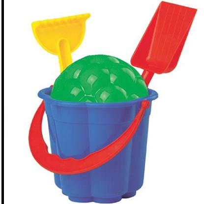 Picture of Игровой набор для песка (Ведерко, формочка, лопатка, грабельки)