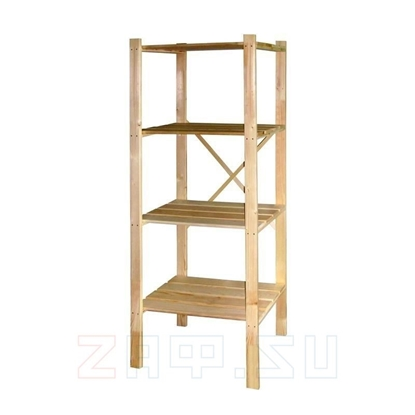Изображение Стеллаж деревянный 160×75×30 см, 4 полки