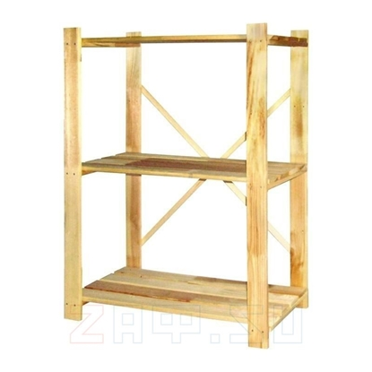 Picture of Стеллаж деревянный 96×75×30 см, 3 полки