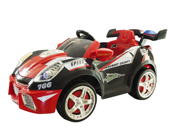 Изображение Электромобиль Zilmer «Гонка-1201В» чёрно-красный