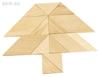 Изображение Деревянная развивающая игра Пелси мозаика «Веселые фигурки»