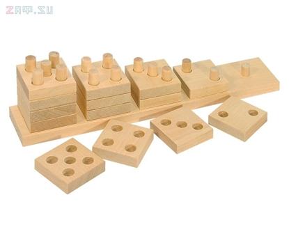 Изображение Деревянная развивающая игра Пелси Пирамидка счетная «Домино»