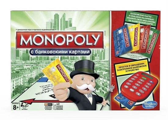 Изображение Настольная игра Монополия с банковскими карточками