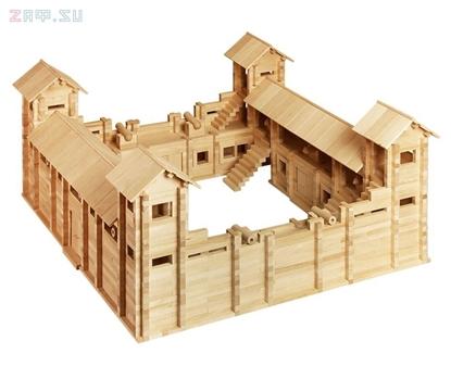 Picture of Конструктор из дерева «Крепость»